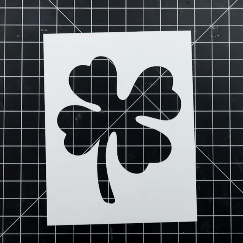 St. Patrick's Day Rainbow Clover Shaker Card Cut Out
