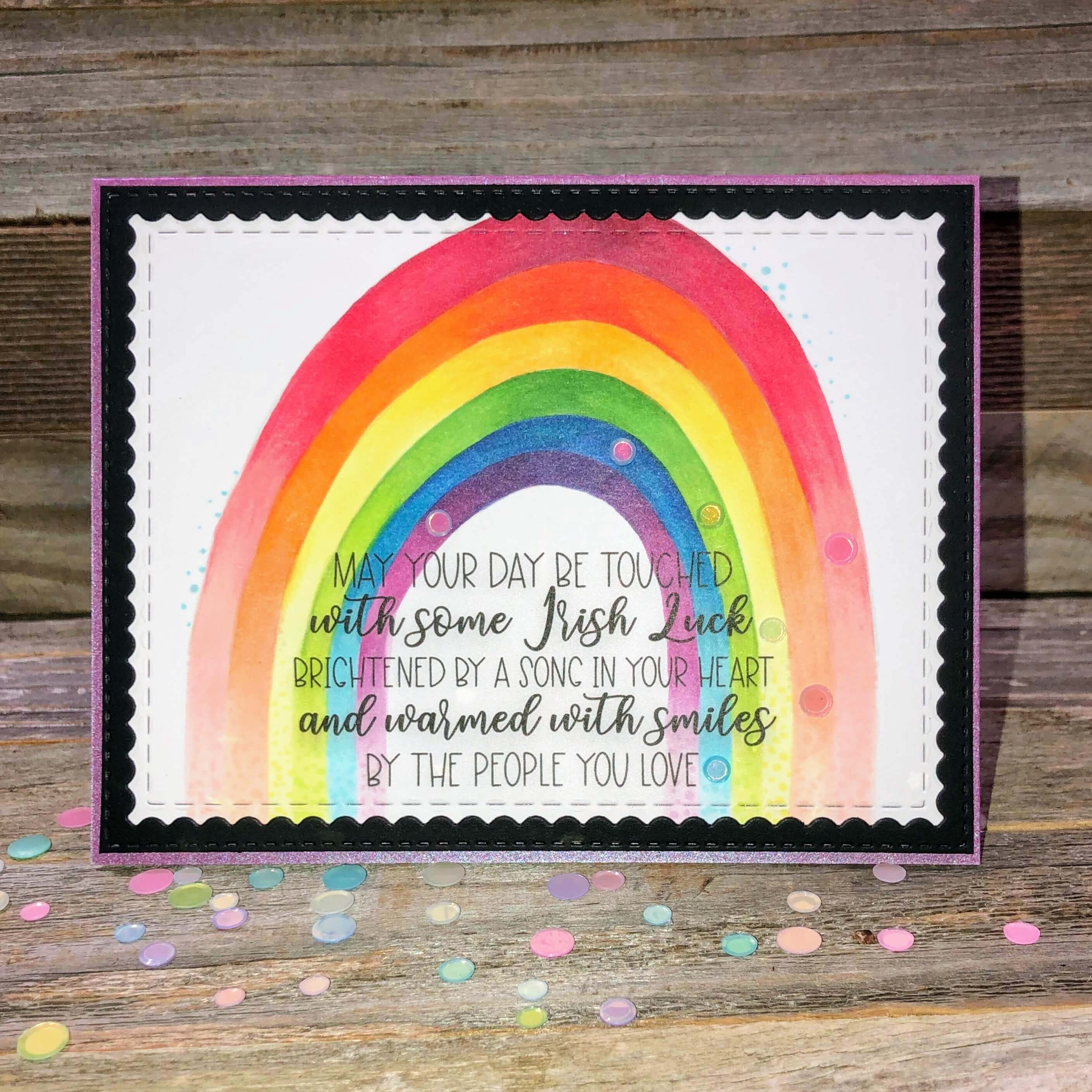 Rainbow Coloring Greeting Card
