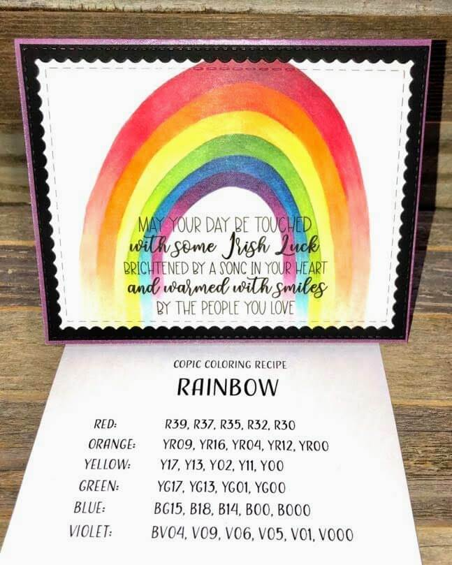 Cardstock Paper Rainbow Coloring Greeting Card Coloring Recipe