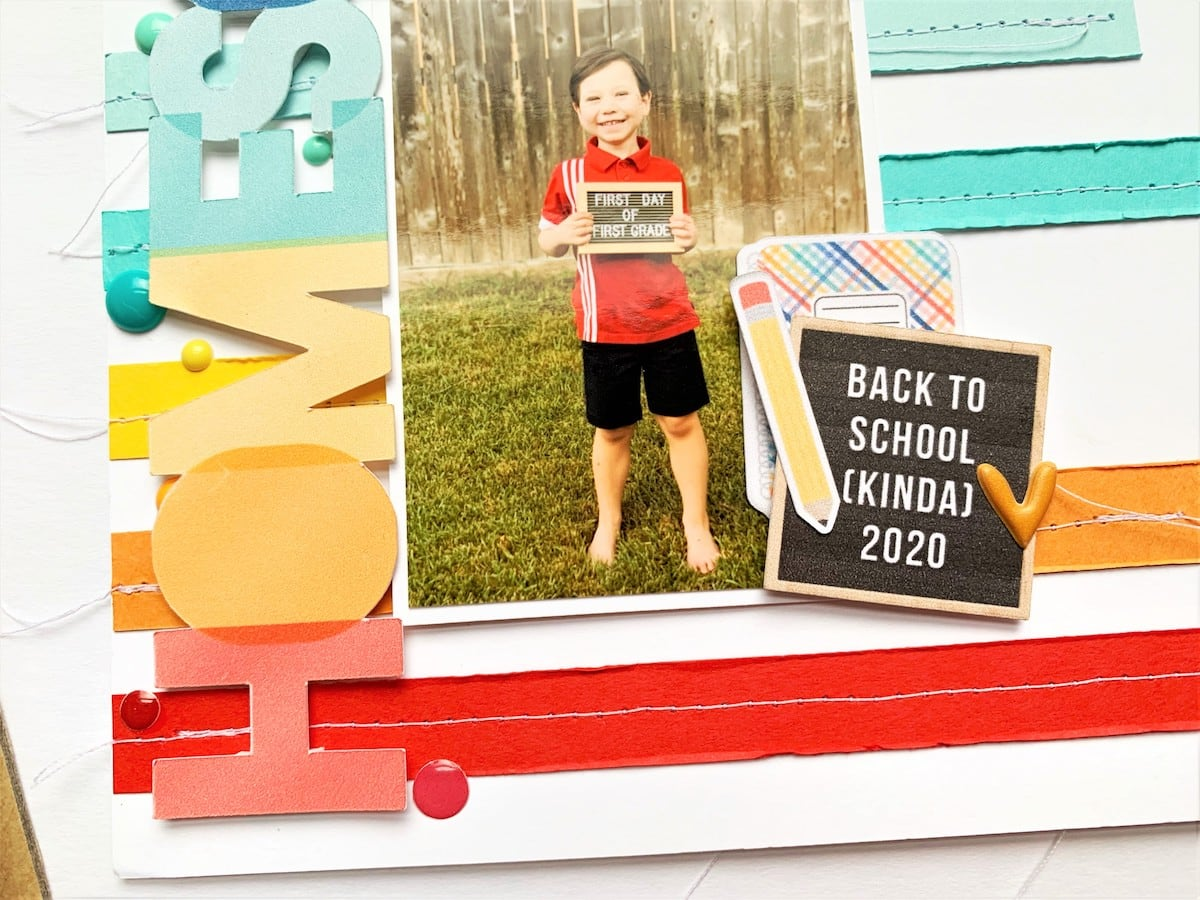 back to school layout detail image
