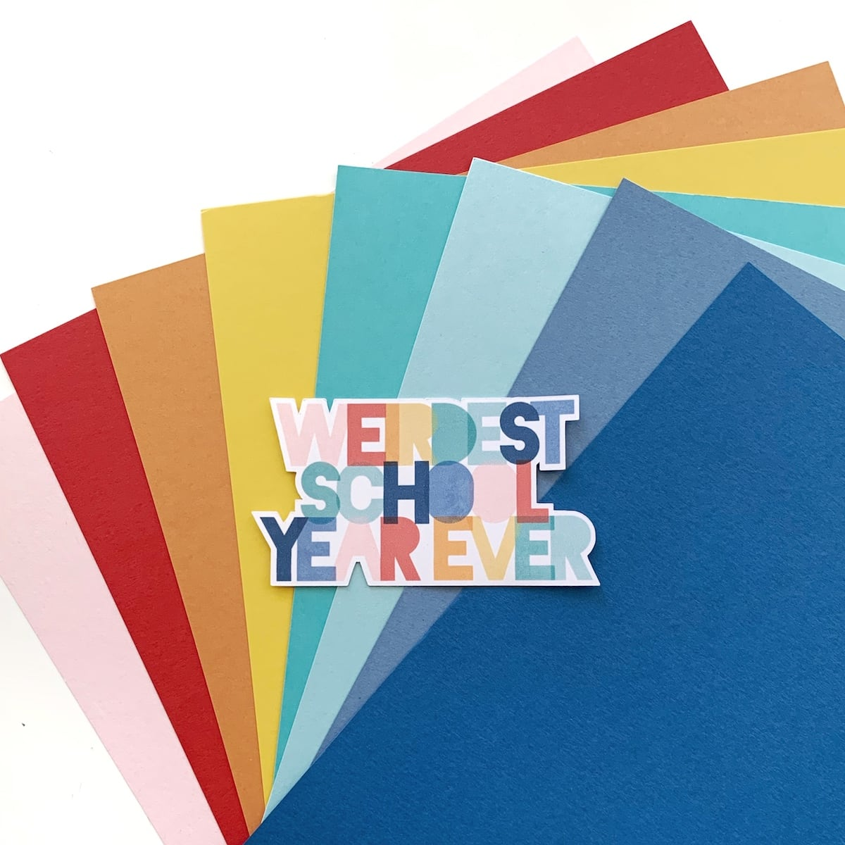 paper palette for back to school scrapbook layout