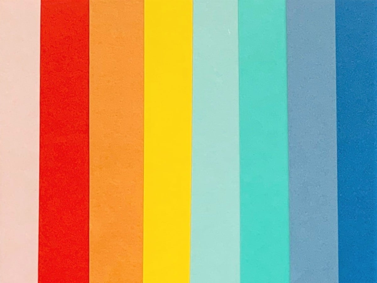 back to school layout paper rainbow