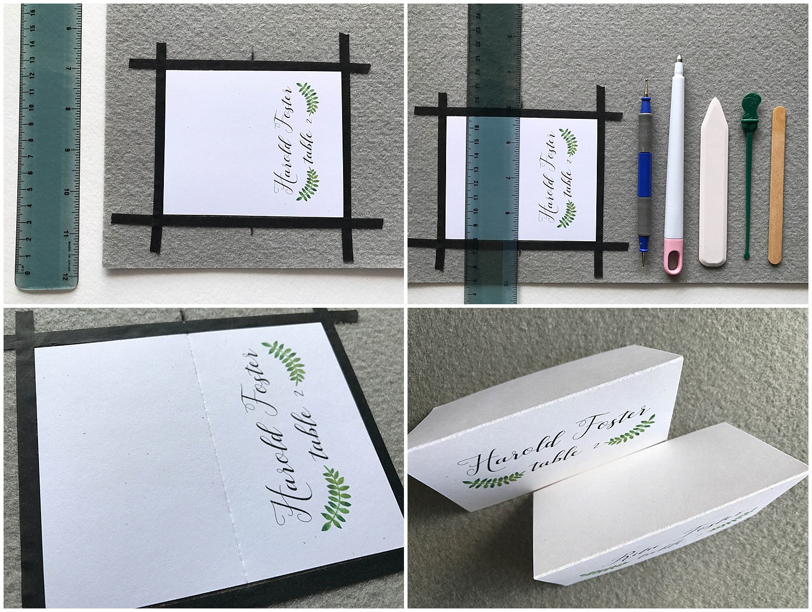 how to score your place or escort cards