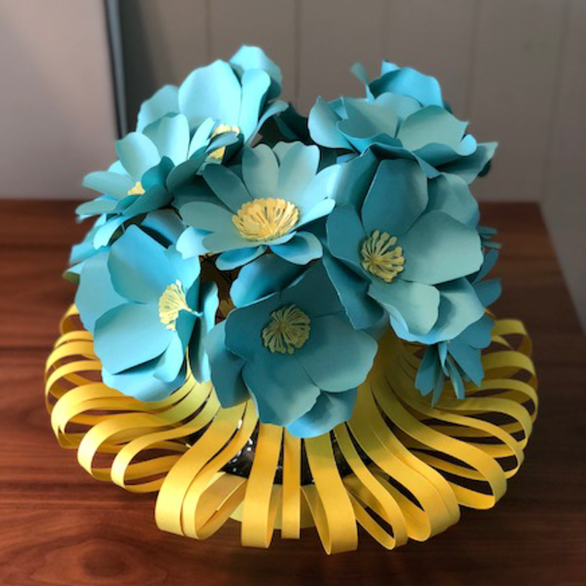 DIY Sculpted Cardstock Paper Vase