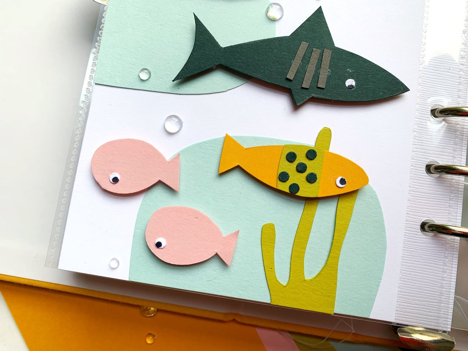paper fish on sea layout