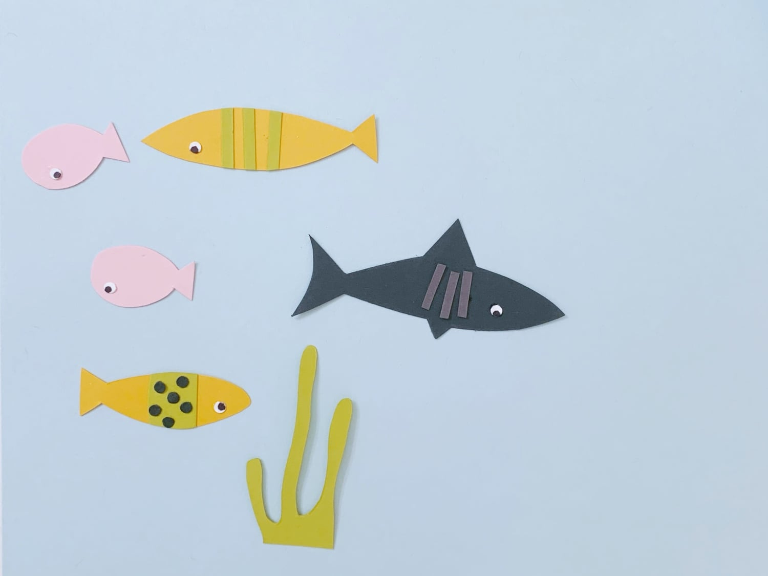 adding details to paper fish