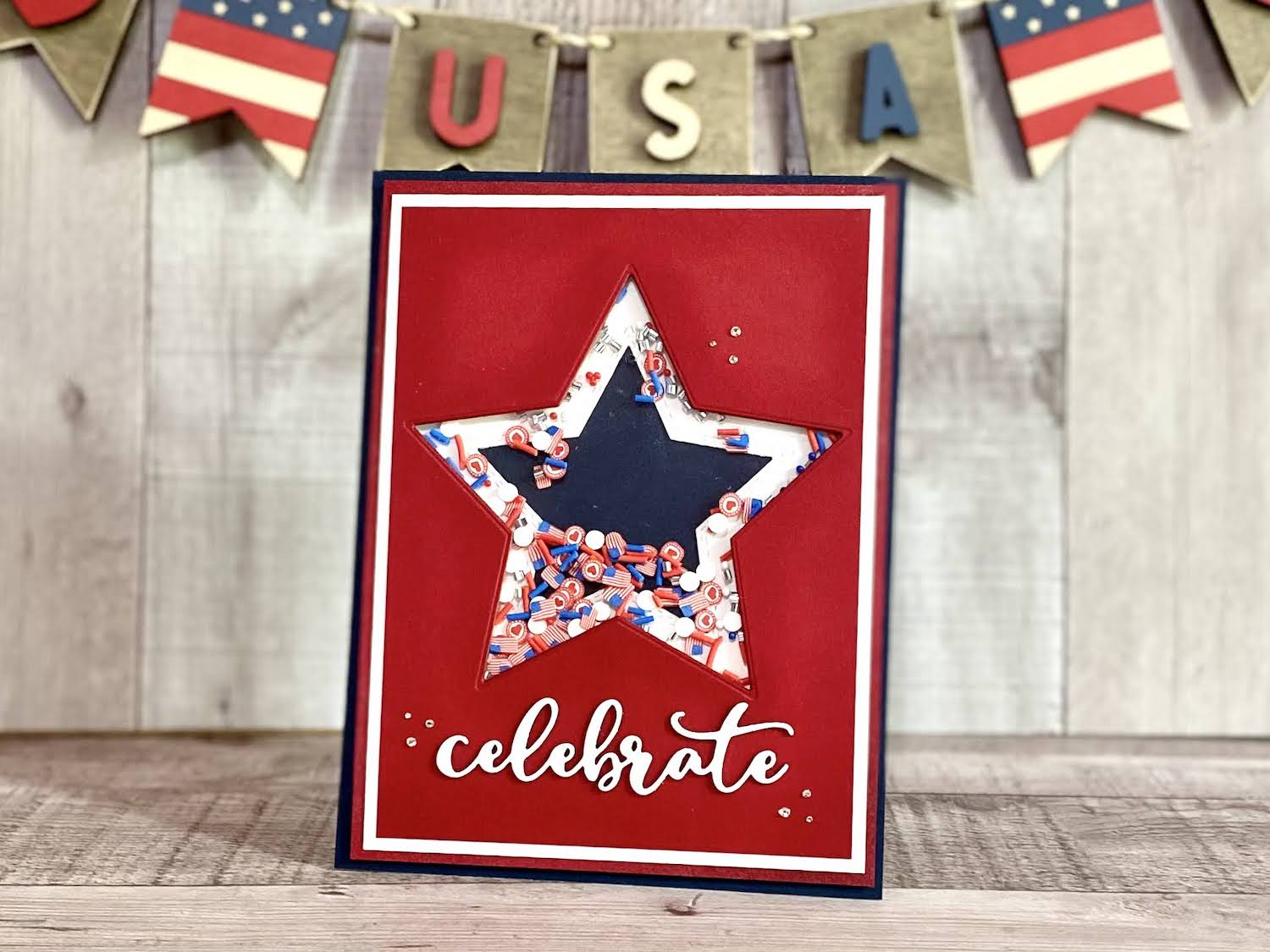 4th of July Standing Shaker Sign