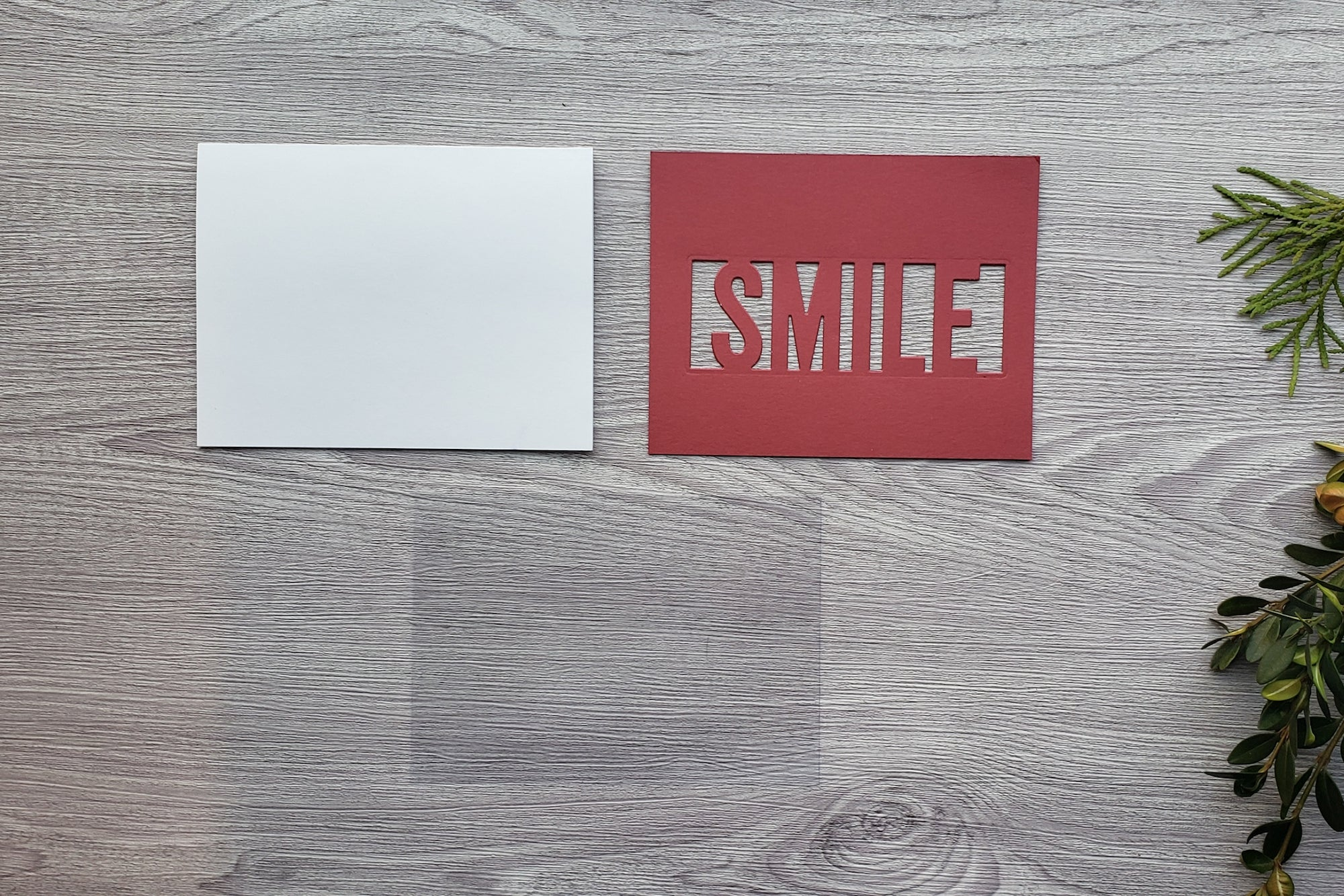 DIY Smile Cardstock Paper Shaker Card Pieces