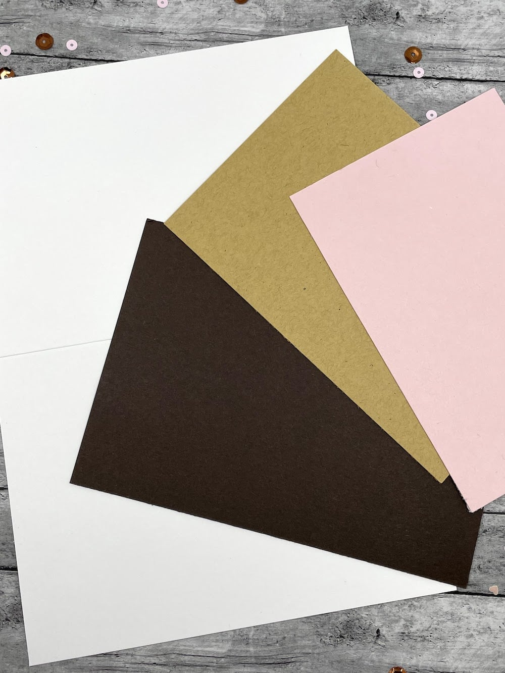 cut card panels for smores card