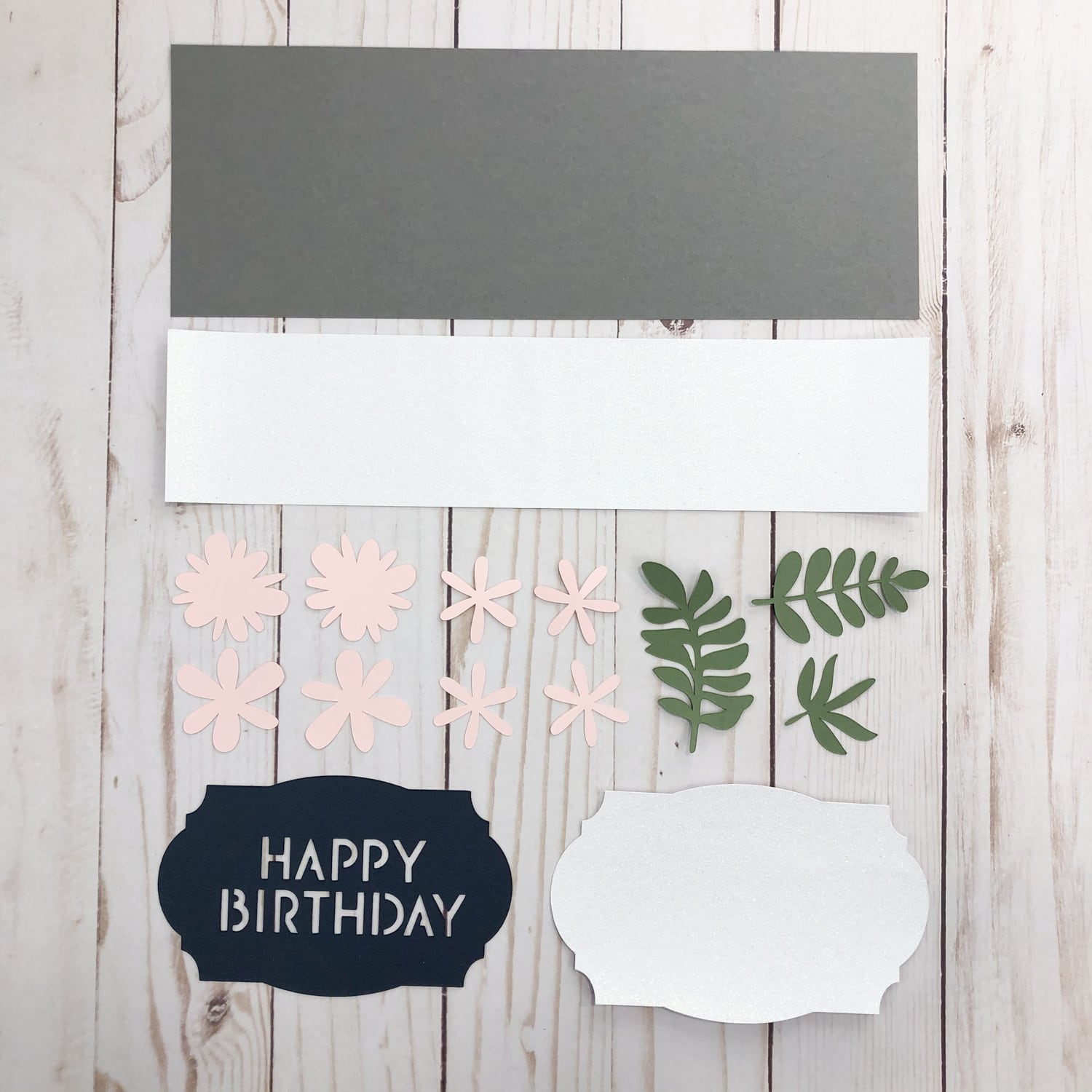 die cut pieces for birthday gift wrapper