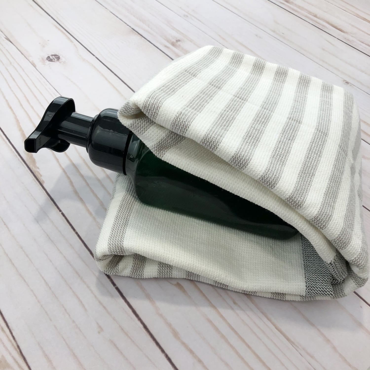 towel folded over soap