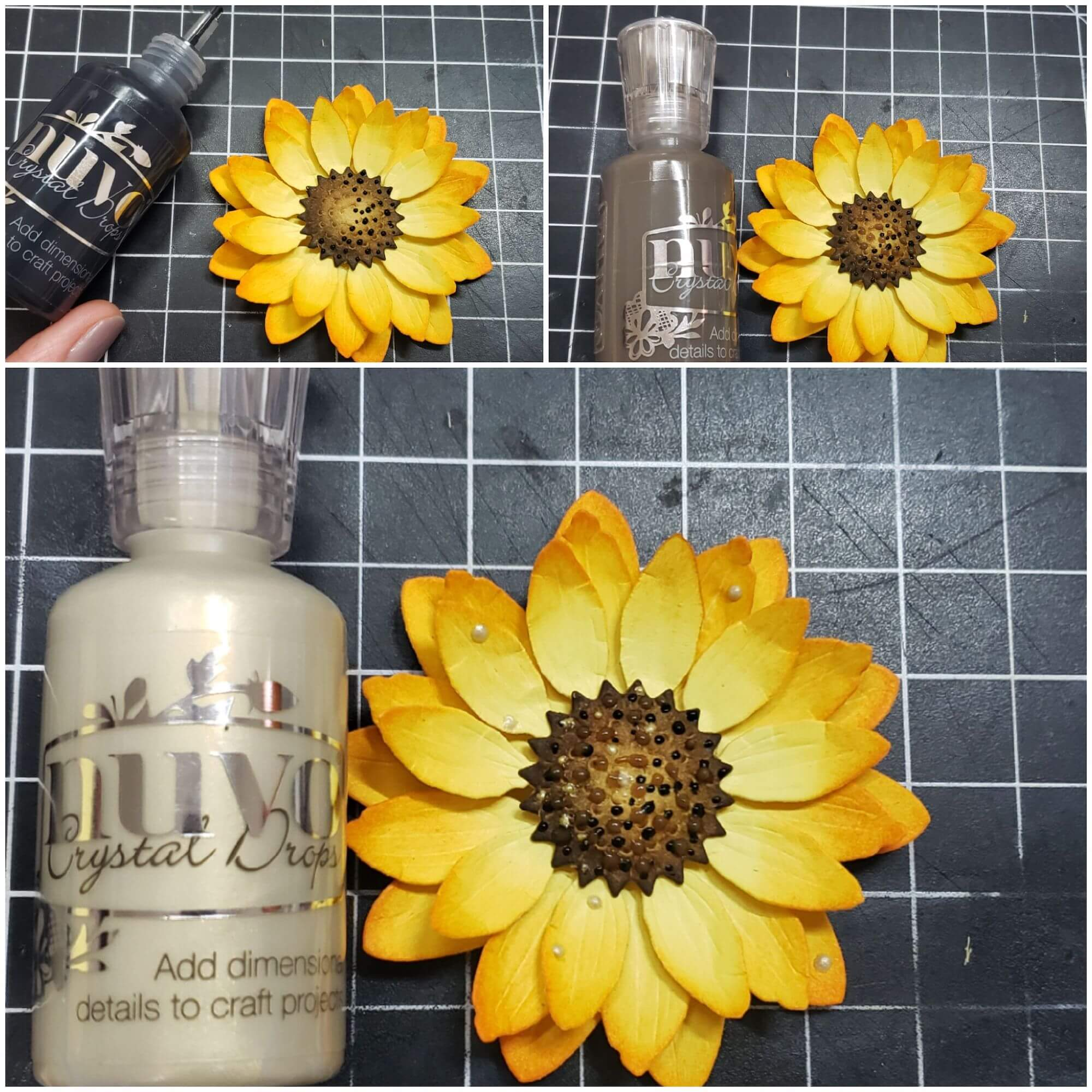 Adding nuvo drops to center of flower