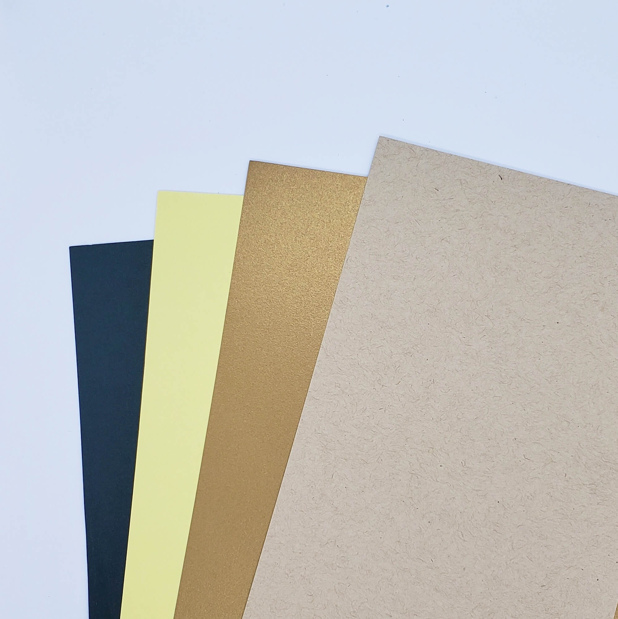 Papers for sunflower card