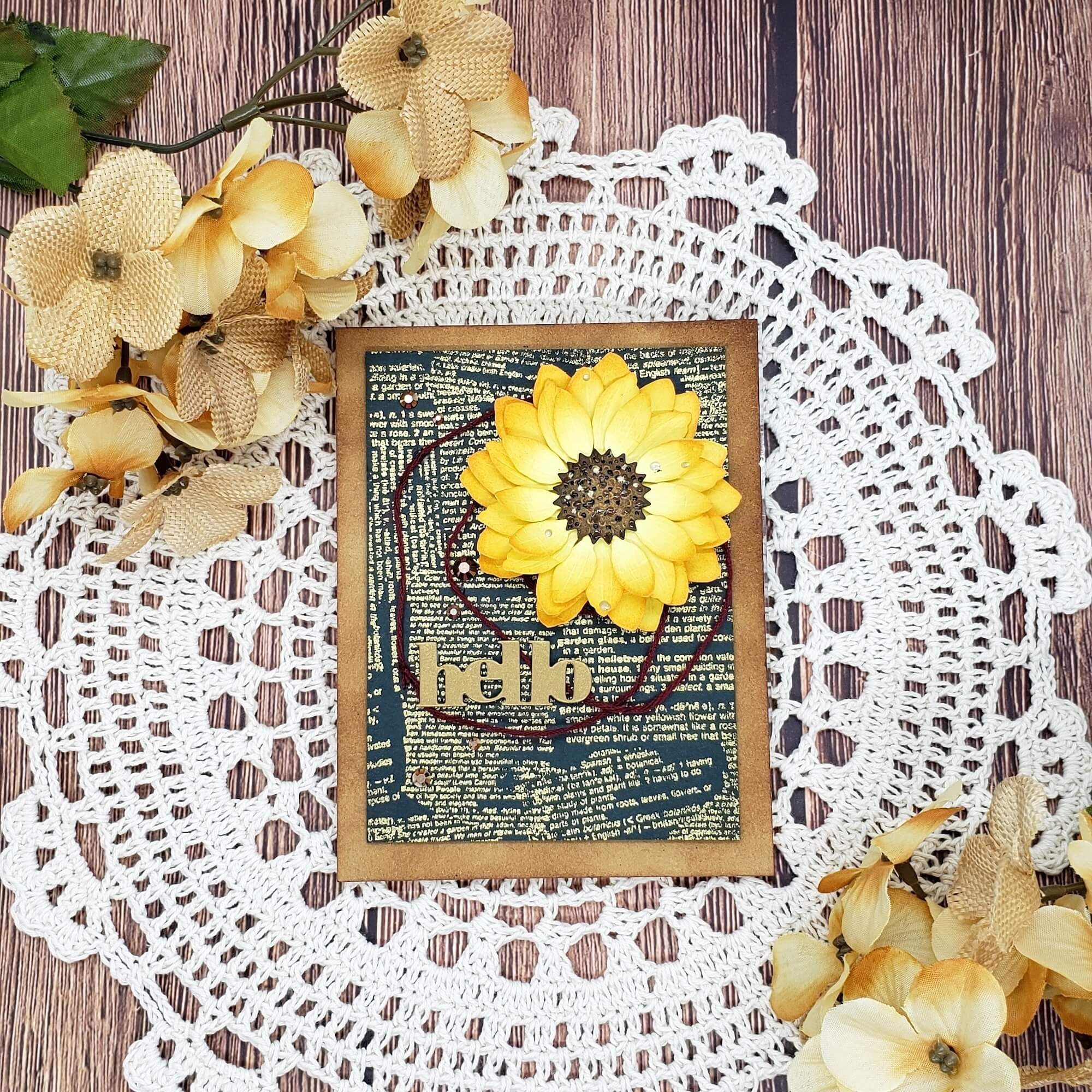 Finished sunflower card