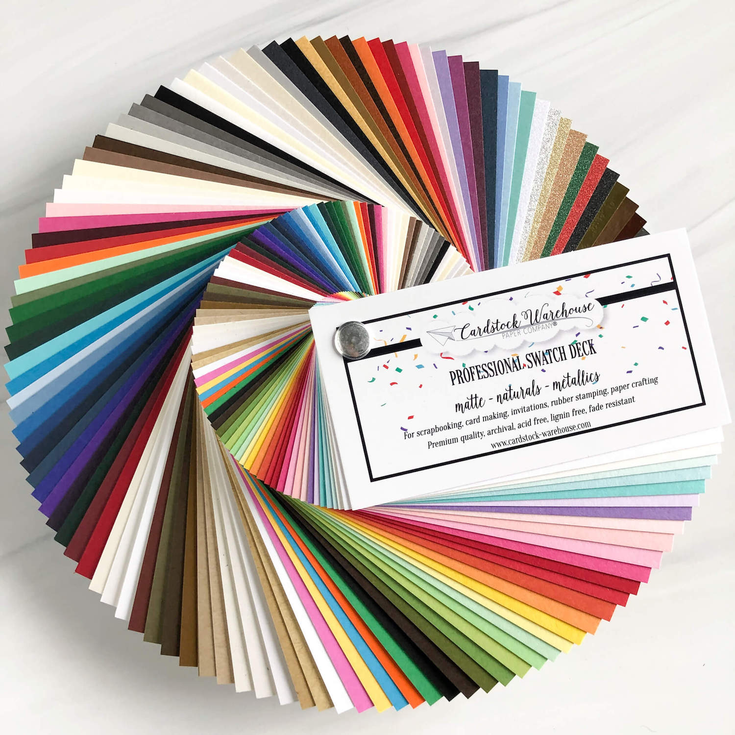 Swatch Deck of Papers from Cardstock Warehouse Paper Company