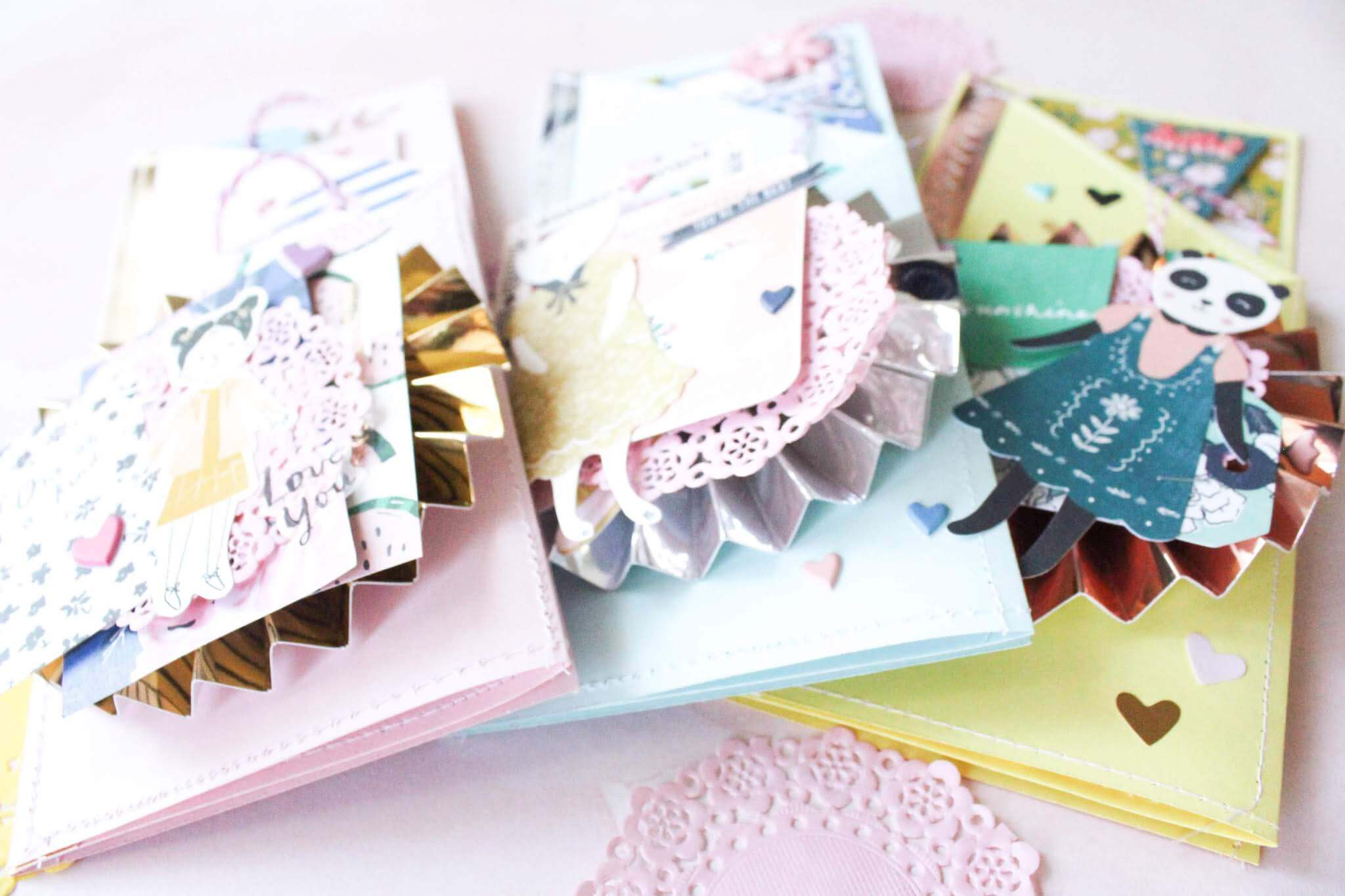 Tri-fold Mirror And Pastel Mothers Day Cards