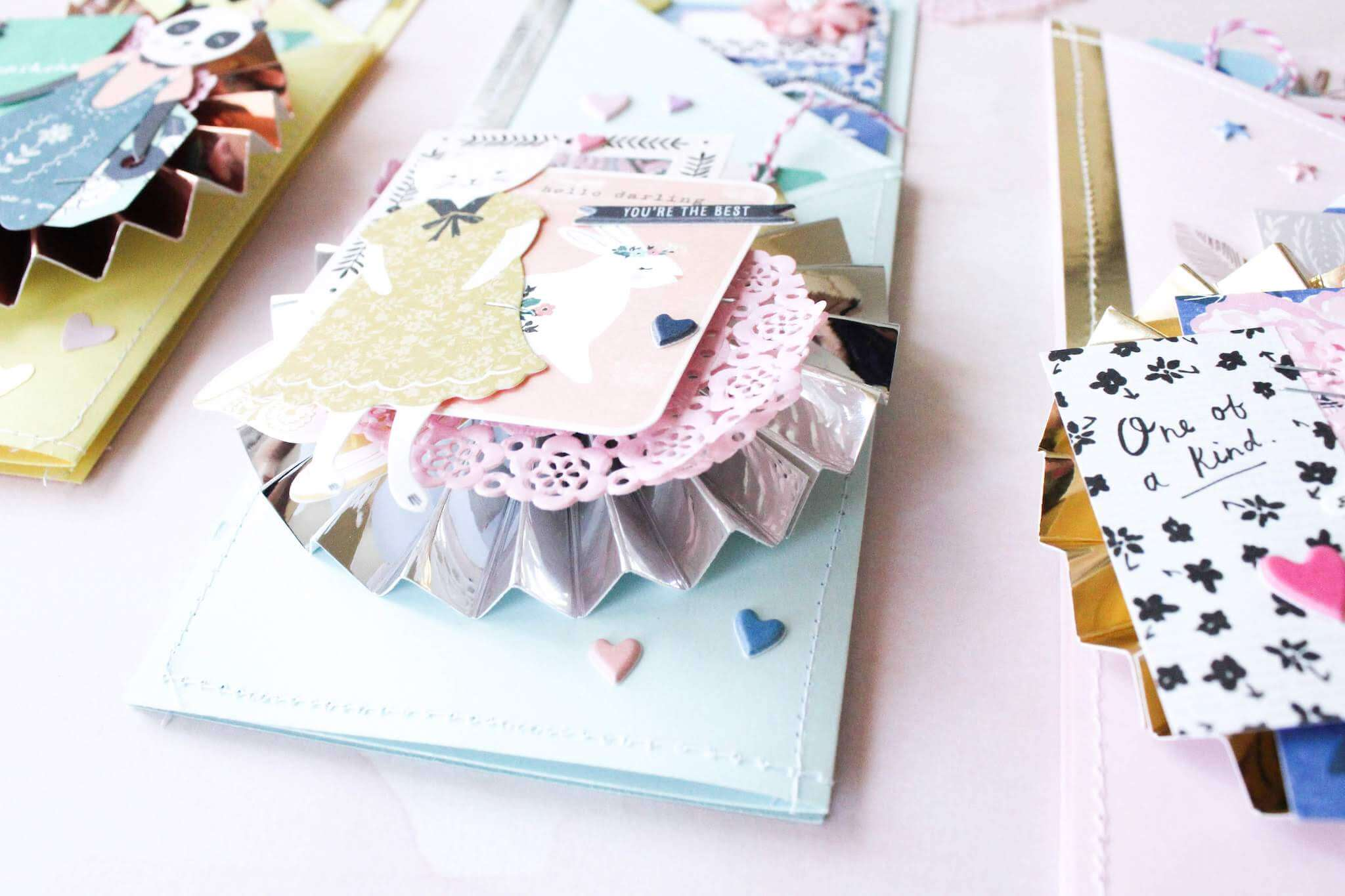 Tri-fold Mirror And Pastel Mothers Day Cards Mirror Medallion