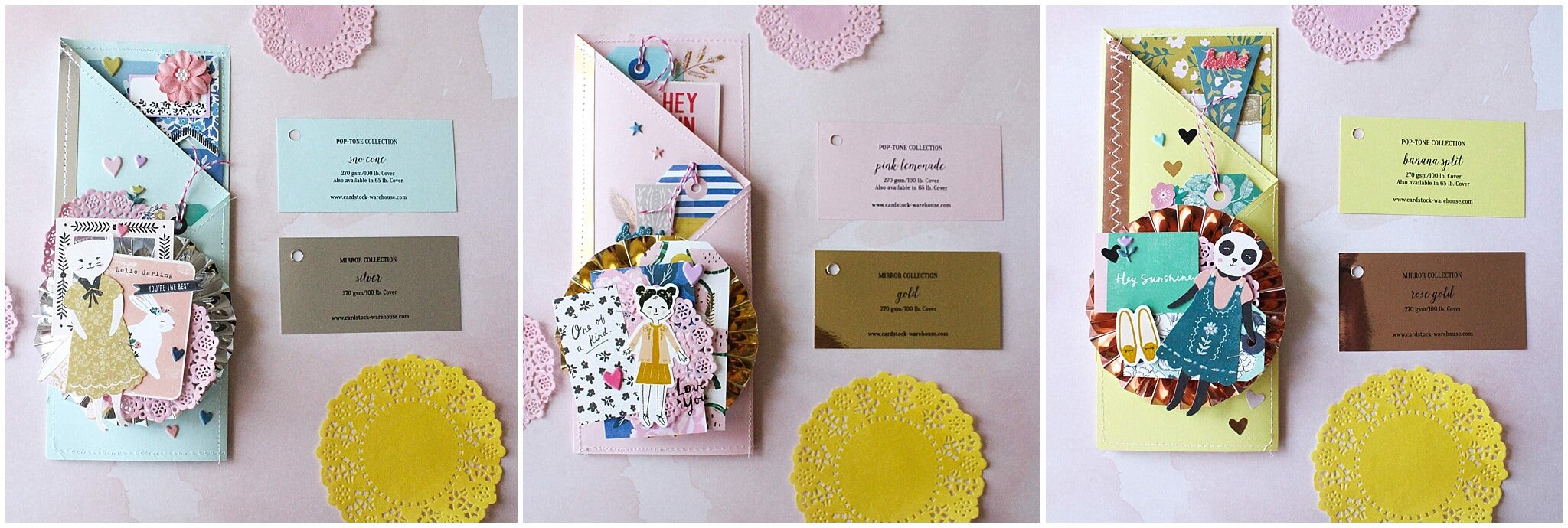 Tri-fold Mirror And Pastel Mothers Day Cards Swatches
