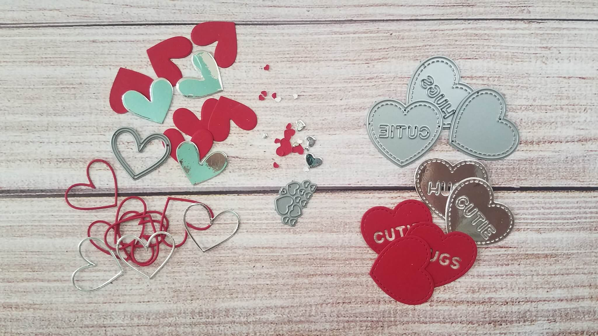 Love Truck Masculine Valentines Day Card Die Cut Hearts
