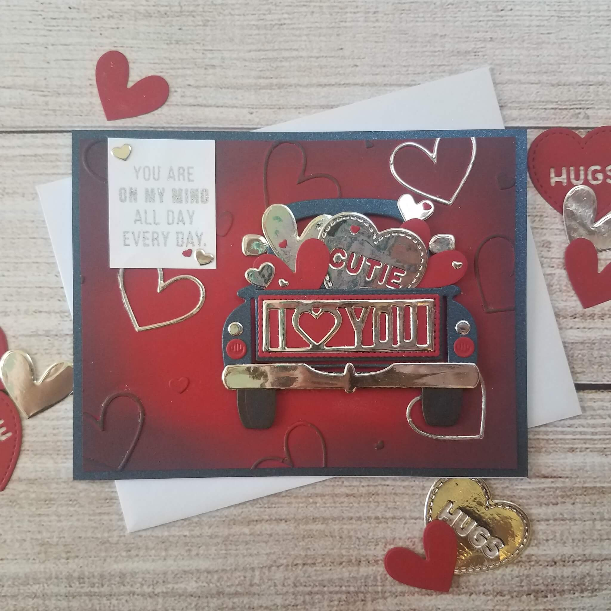 Love Truck Masculine Valentines Day Card