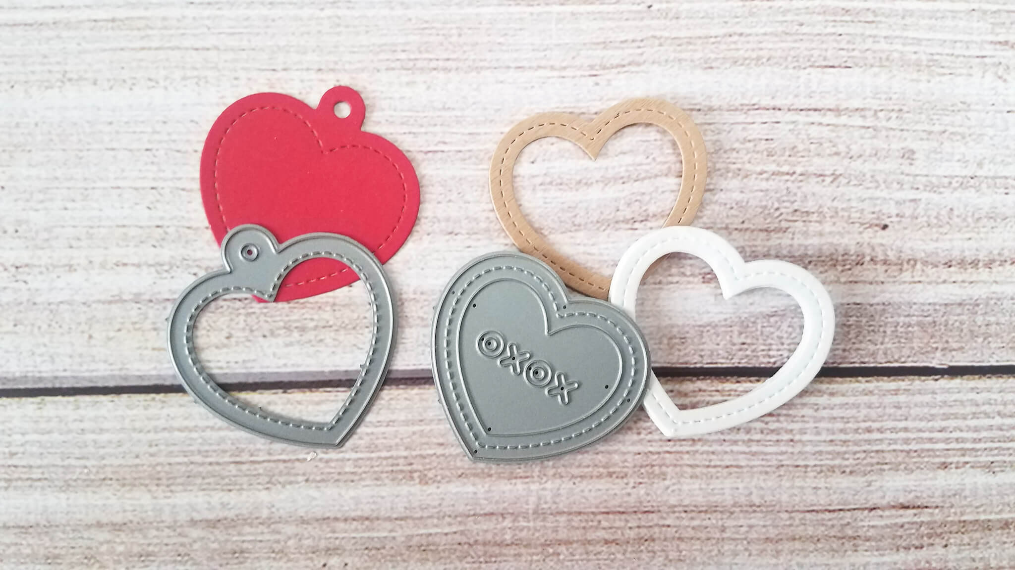 Die Cut Layering Valentine Card Shaker Pieces