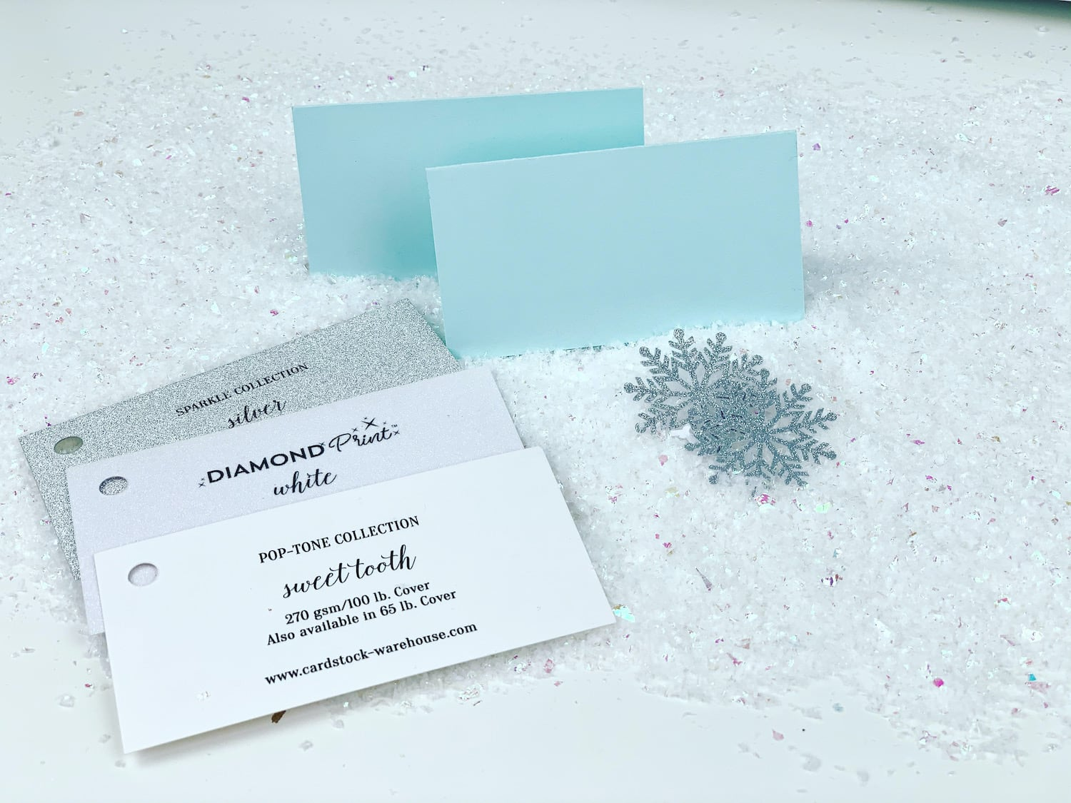 papers used for Winter Wonderland Place Cards