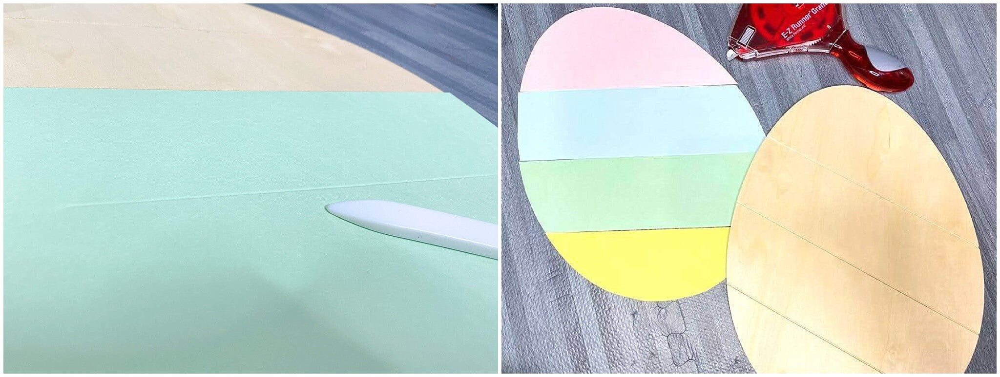 Pastel Paper and Wood Easter Egg Decor