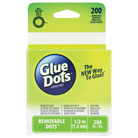 Glue Dots® Adhesive Roll - 1/2 inch -  200 pcs