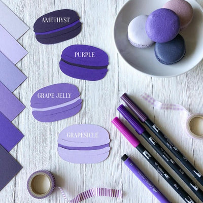 Purple Cardstock Die-Cuts