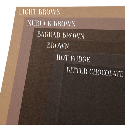 Bagdad Brown Colorplan Cardstock Paper, heavyweight 100 lb., 8.5 x 11, 25 Sheets color comparison