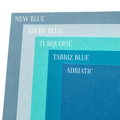 Blue cardstock comparison