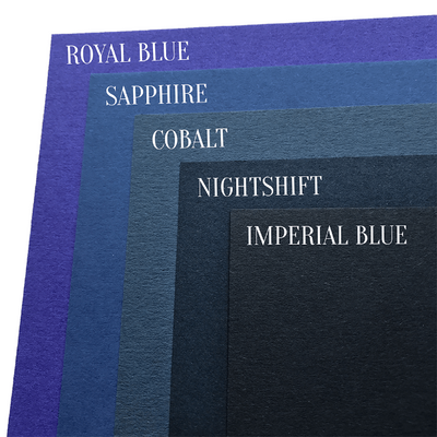 Blue cardstock comparison image