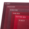 Scarlet Red Colorplan Cardstock 100 lb color comparison