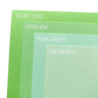 green cardstock color comparison image