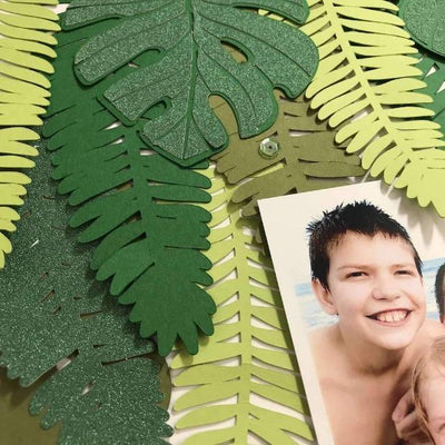 Die Cut cardstock leaves
