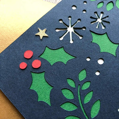 Christmas Card cardstock die cut