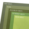 Green cardstock color comparison