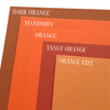 Mandarin Orange Colorplan Cardstock paper 8.5 x 11 100 lb heavyweight cover color comparison