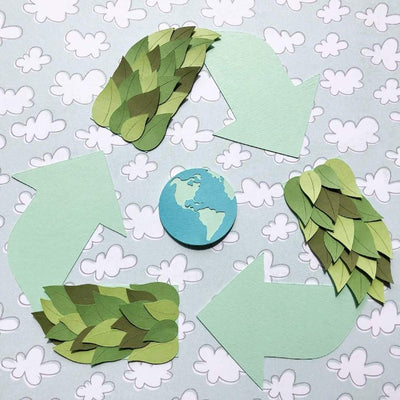 Green Cardstock Earth day die cuts