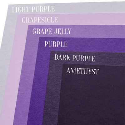 Purple Cardstock Color Comparison