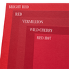 Bright Red Colorplan Cardstock Paper, heavyweight 100 lb., 8.5 x 11, 25 Sheets color comparison