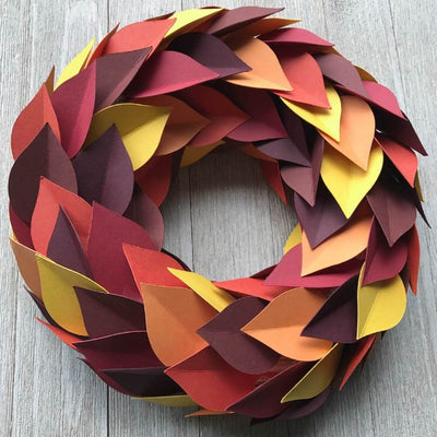 Cardstock autumn wreath