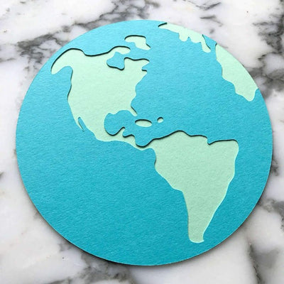 Cardstock Earth die-cut