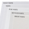 Bright White Colorplan Cardstock Paper, heavyweight 100 lb., 8.5 x 11, 25 Sheets color comparison