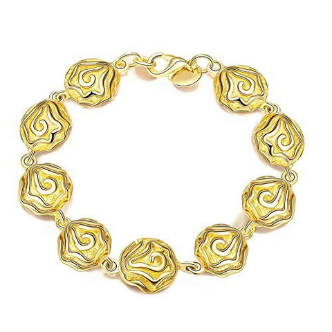 Naivo 18K Gold Plated Seashell for the Summer Link Bracelet