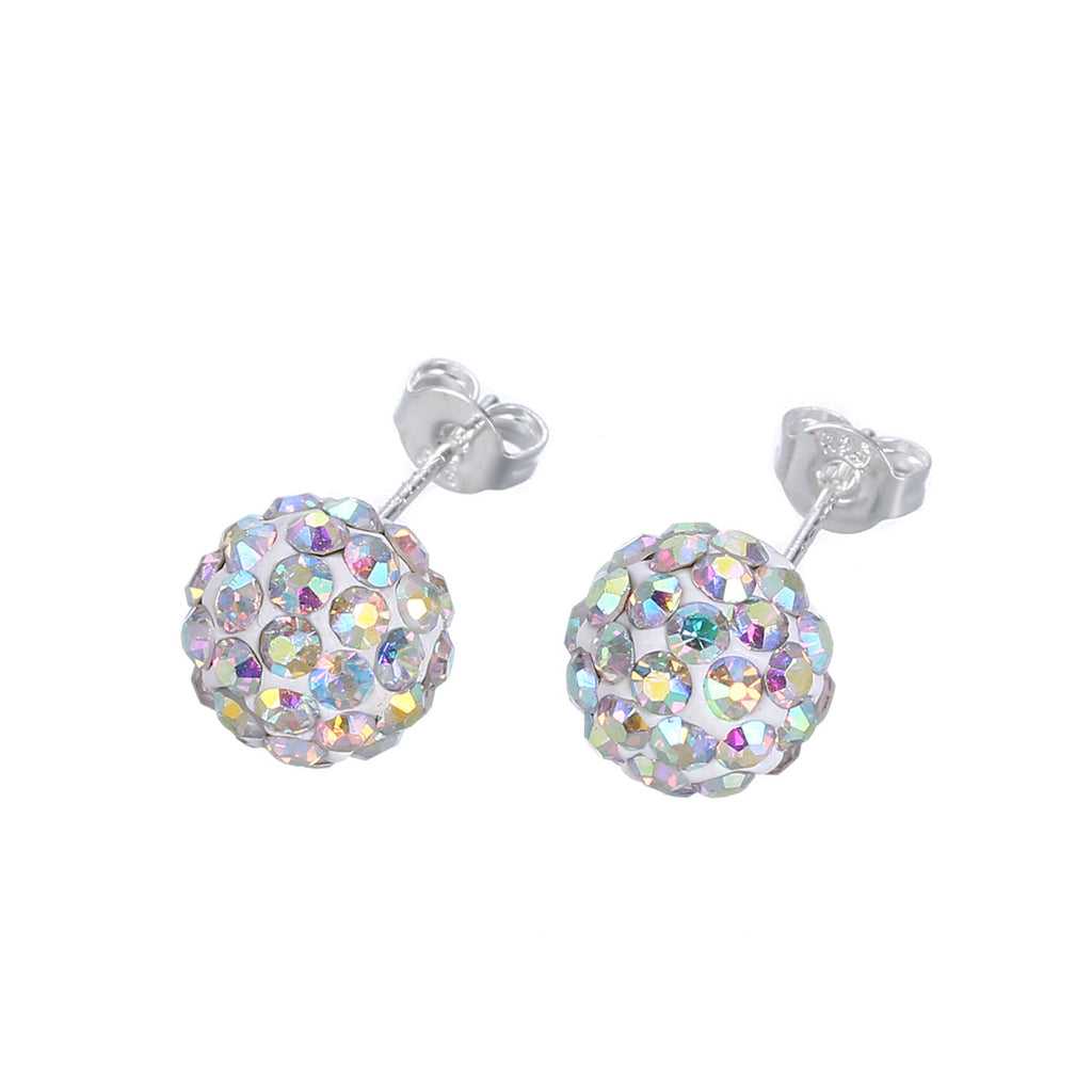 Naivo Shamballa Crystals CZ Pave Stoned Stud Earrings - 25 Styles