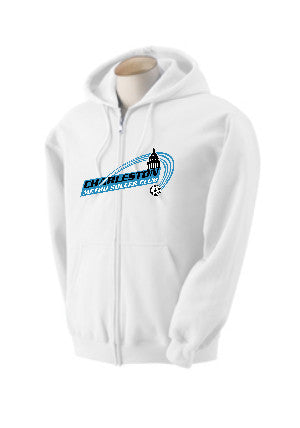 Zip Up Hoodie Shirt – White Colored