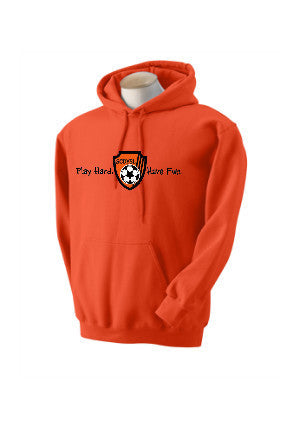 Zip Up Hoodie – Orange Colored