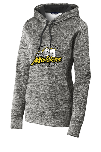 Sport-Tek® Ladies PosiCharge® Electric Heather Fleece Hooded Pullover