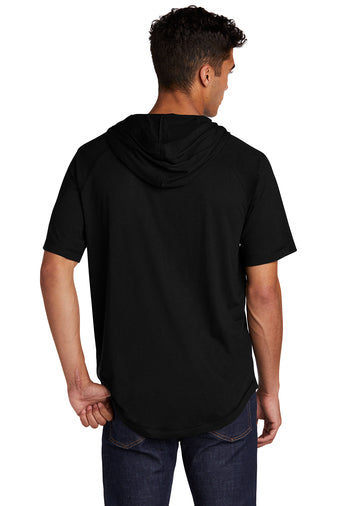 Sport-Tek ® PosiCharge ® Tri-Blend Wicking Short Sleeve Hoodie